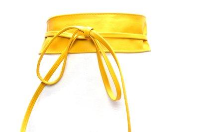 8 cm knoopriem geel 0001