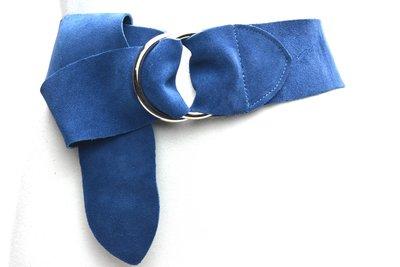 6cm brede dames riem blauw 60680