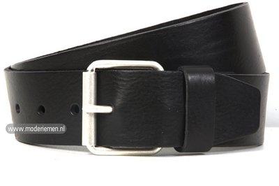 5cm zwarte riem - jeans riem zwart zw502