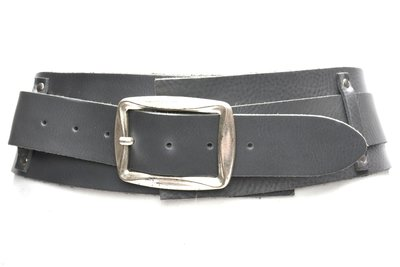 8cm brede dames riem grijs 8150