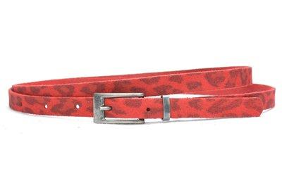 1,5cm smalle riem panter rood 435