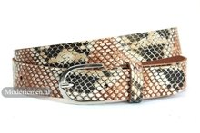 slangenprint bruin