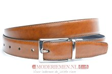 double face riem cognac