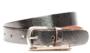 3cm bronzen riem Unleaded dames riem zilver/brons crack leder U30877_