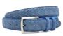 3,5cm pantalon riem blauw suède met zig zag print bls309/9030_