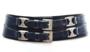 8cm brede dames riem donkerblauw - blauwe heupriem Take-it bl020TB_